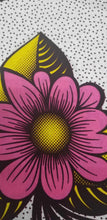 Load image into Gallery viewer, Summer bouquet in yellow and Pink African Print 100% Cotton 2 yds $10