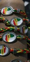 Load image into Gallery viewer, Shambala style Adjustable Rasta colors Africa bracelet