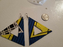 Load image into Gallery viewer, 2018 African Earrings Fabric Handmade with Tribal Ankara/waxprint $10