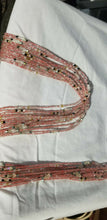 "Load image into Gallery viewer, Red Colored African waist Beads Long With Decorative Accents#2(.46""-53"")"