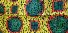 Load image into Gallery viewer, Yellow and Green Multi African Print~6yards$35