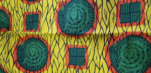 Yellow and Green Multi African Print~6yards$35