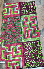 Load image into Gallery viewer, African Print Beautiful Green /ankara/ntama.by the yard $6.25