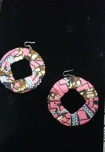 Load image into Gallery viewer, Pink Multi African Print Round Earrings $5