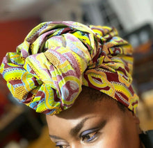 Load image into Gallery viewer, High fashion MULTICOLOR African Wax Print limeGreen100% Cotton Fabric ~71yds×23""