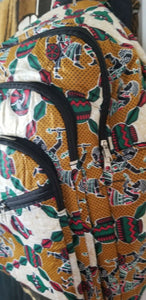 African Print Back Pack~  Dancers