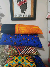 Load image into Gallery viewer, African Wax Print Ankara Throw Pillow Sofa Couch Pillow Cover/one Each