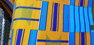 Kente Print  Print 100% Cotton Fabric ~2 YARDS × 23""