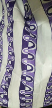 Load image into Gallery viewer, Ghana Akosombo Textile(ATL )100% Cotton white and Lavender $10 per yard