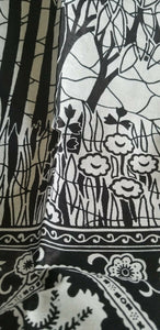 "Black Abd And White AFRICAN PRINT 2yds×46""~$12"