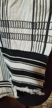 Load image into Gallery viewer, Handmade black and white woven Ewe Kente Sash