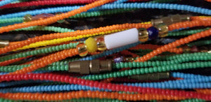 NEW  BEAUTIFUL MULTI-COLORED SUPER SKIINY ANKLET BEAD~ $5 PER  STRAND