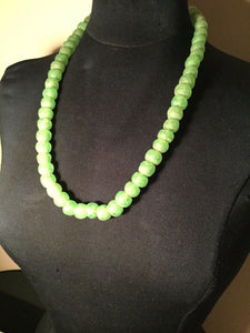 SINGLE STRAND SEA  GLASS  BEADED NECKLACE