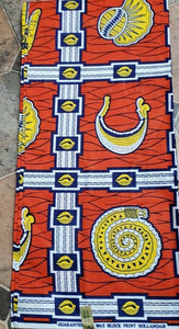 Multi African Print Motif~6yards