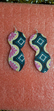 Load image into Gallery viewer, African Earrings Fabric Handmade with Tribal Ankara/waxprint 2pairs $10