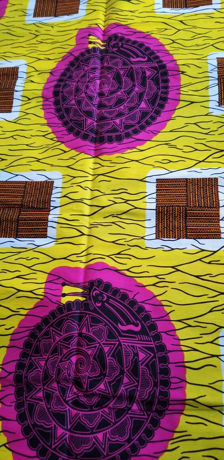 MULTICOLOR African Wax Print 100% Cotton Fabric 1 yard(44 in.) ~$6.60