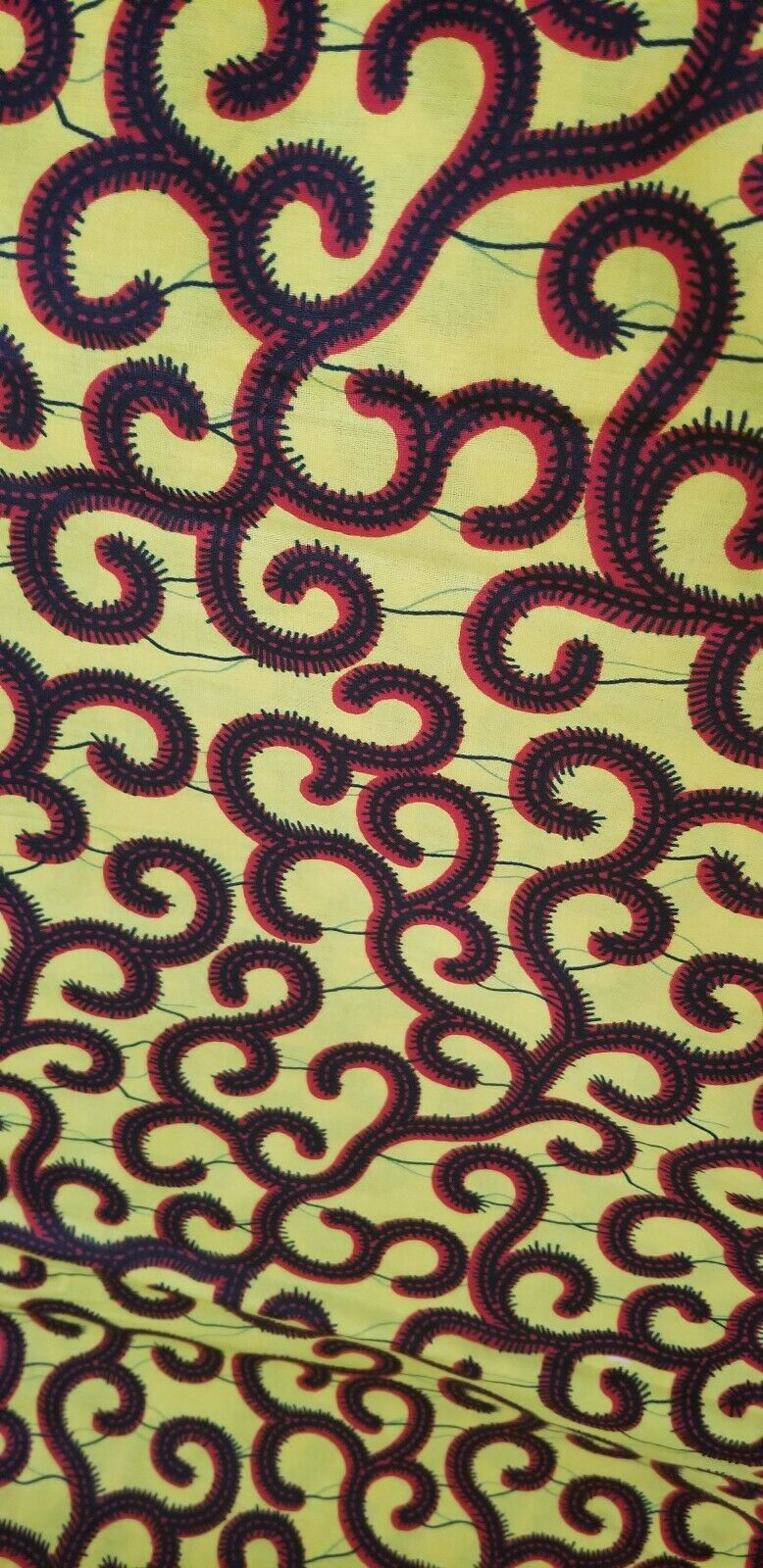 Yellow multi African Print Fabric  100% .by the yard~.$5.50per yard
