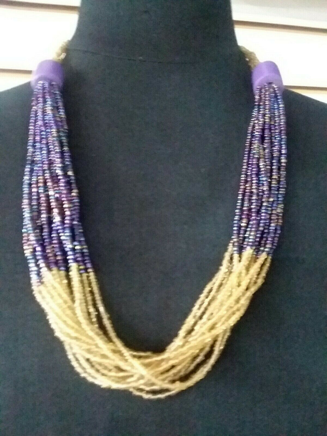 Zulu Jewelry multi stranded necklace
