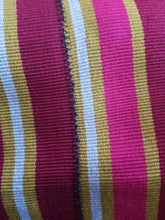 "Load image into Gallery viewer, FasoDaFani Fabric From Boukina burgundy,mustard  multi colored stripes53""×75"""