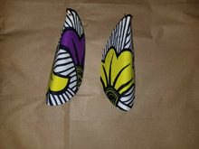 Load image into Gallery viewer, African Print Butterfly Earrings