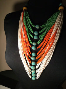Mali Multi Strand Necklace