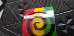 African Rasta color statement bangle