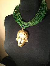 Load image into Gallery viewer, African Leather Necklace with Pendant