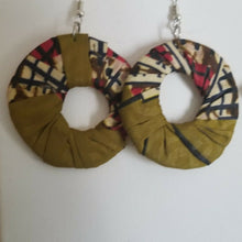 Load image into Gallery viewer, 2018 African Earrings Fabric Handmade with Tribal Ankara/waxprint 2pairs $8