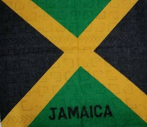 100% Authentic Jamaican Flag Bandana Multifunctional Scarf Blue And Red.~$5.45