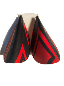 African Print Butterfly Earrings Bold Red~ $12 Ships Free