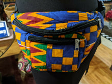 Load image into Gallery viewer, Ankara Kente Fanny Pack Waist Bag Crossbody Pack Waist Bag Bum Pack Hip bag #014