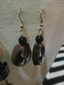 African Honey Cowrie Shell Earrings