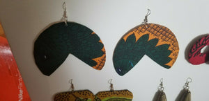 2018 African Earrings Fabric Handmade with Tribal Ankara/waxprint 2pairs $8