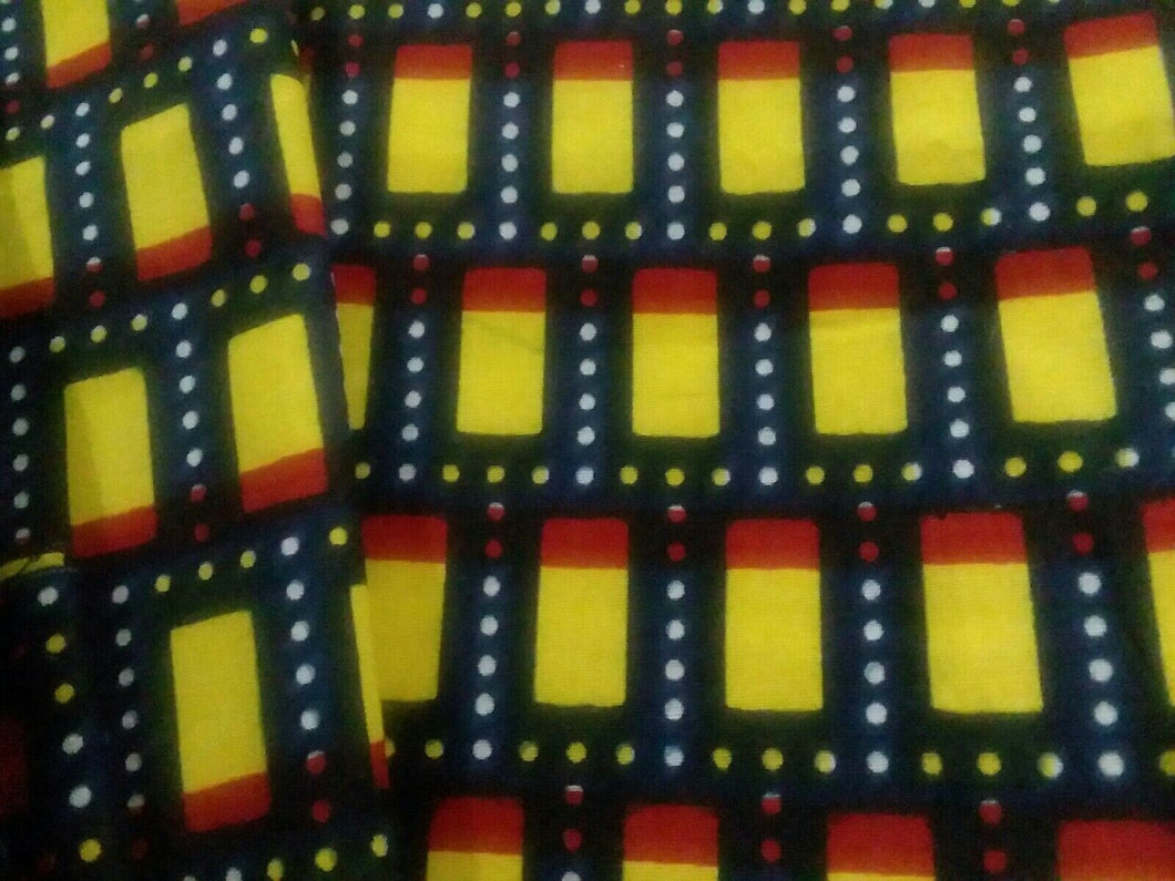 Yellow Cube Designs Multi African Print 37