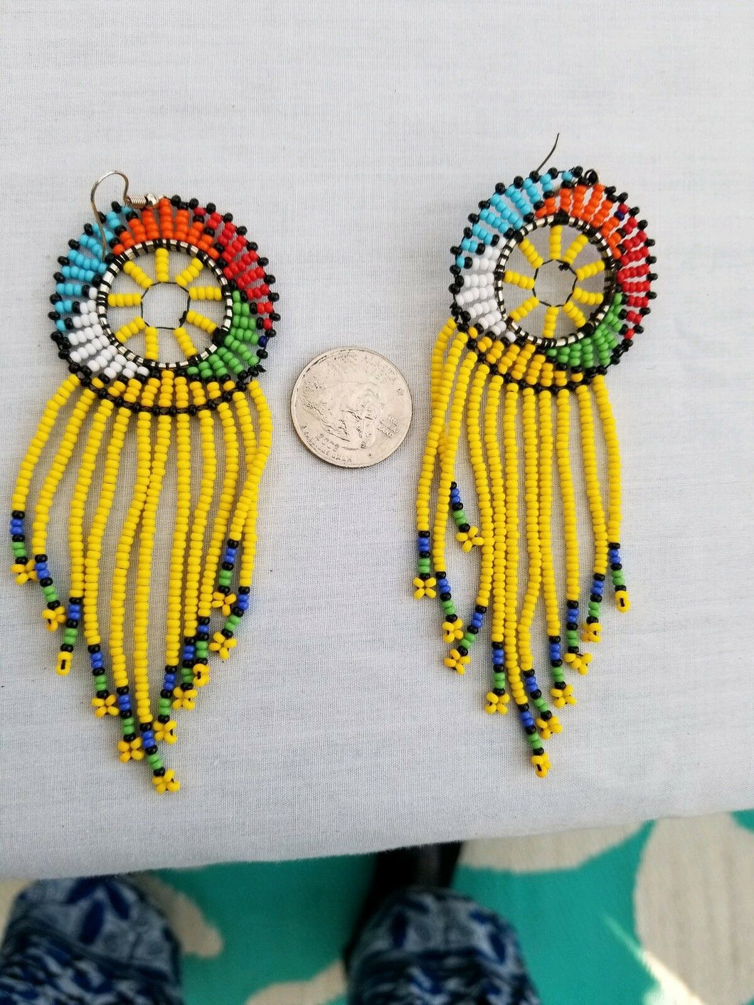 Handmade Fashion Jewelry Multicolor Beaded Beadwork Earrings **SALE**REDUCED