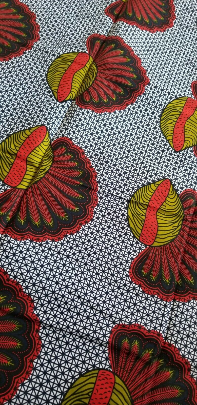 MULTICOLOR African  Print(snails~fruitful)% Cotton Fabric 1 yard(44 in.) ~$6.60