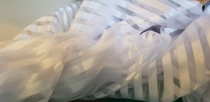 White STRIPPED CHIFFON FABRIC.