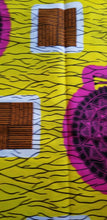 Load image into Gallery viewer, MULTICOLOR African Wax Print 100% Cotton Fabric 1 yard(44 in.) ~$6.60