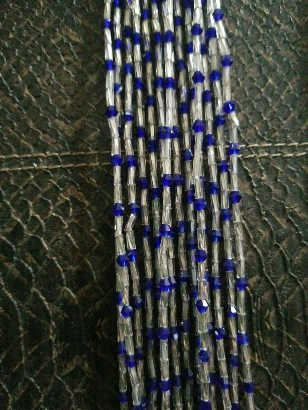49 to 50 Inch Tie On African Waist Beads, Colorful Accent Beads $6each