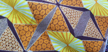 Load image into Gallery viewer, High fashion  African  Print Orange&Yellow Multi 100% Cotton Fabric ~70×24
