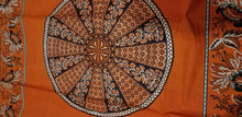 Load image into Gallery viewer, African Print With OrangeBackground And Bold Circular Motif Details 2yds