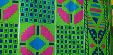 Load image into Gallery viewer, Kente Print African Wax Print 100% Cotton Fabric ~1 yd~$6.50
