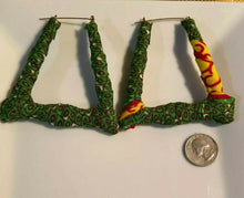 Load image into Gallery viewer, New African Earrings Fabric Handmade with Tribal Ankara/waxprint 2pairs $8