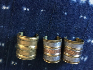 Fashion Brass Cuff Bracelet Natural Patina Ethnic Tribal Brass Jewelry-