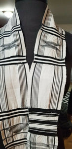 "Black And White Kente/Ewe ~Ghana 62""x12"""