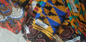 Lot  Remnants African Tribal Ethnic Print Cotton  Fabric Assorted 12 PC Lot