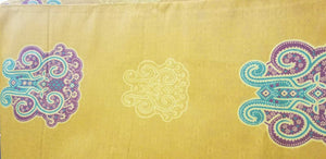 Mustard yellow Royal damask 100% cotton