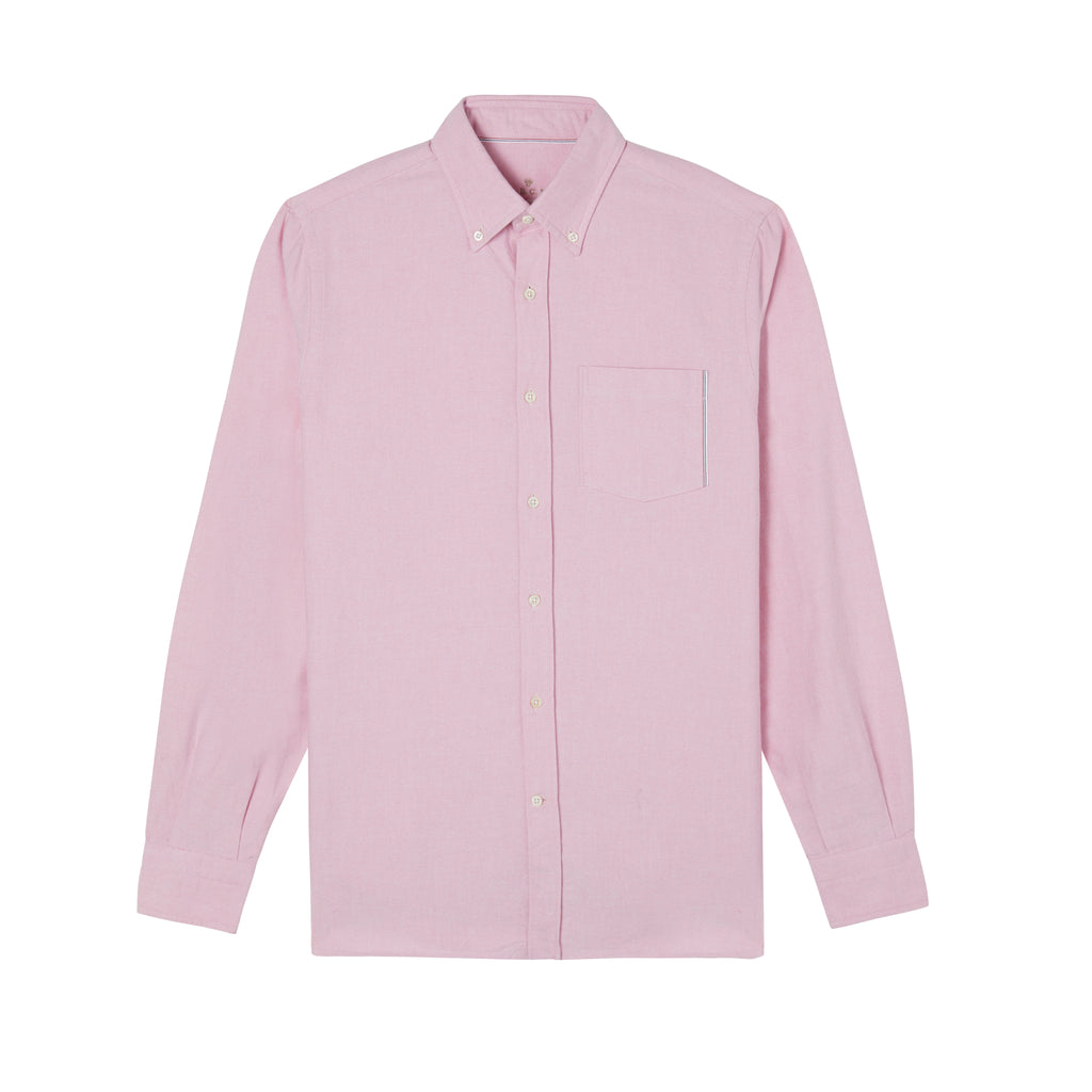 A.B.C.L. Pink Selvedge Button Down Oxford Shirt