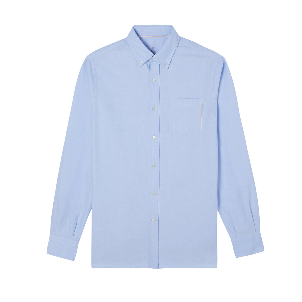 A.B.C.L. Azure Selvedge Button Down Oxford Shirt