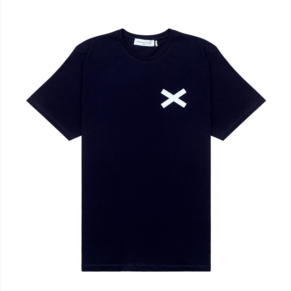 Edmmond Studios Cross Tee - Navy